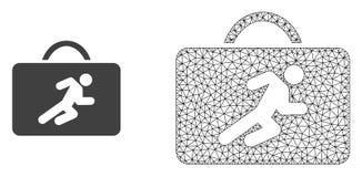 Vektornätverk Mesh Career Case och plan symbol stock illustrationer