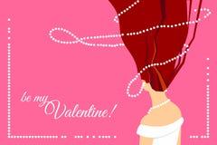 Vektorn är mitt valentinhälsningkort Royaltyfri Illustrationer