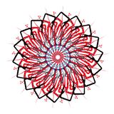 Vektorn Art Mandala och Tatoo, TECKEN, BOKSTÄVER, KOPPLAR AV, YOGA, MYSTIKER, FRÄMLINGEN, AURA, RITUAL stock illustrationer