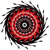 Vektorn Art Mandala och Tatoo, TECKEN, BOKSTÄVER, KOPPLAR AV, YOGA, MYSTIKER, FRÄMLINGEN, AURA, RITUAL royaltyfri illustrationer