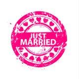 Vektorn att gifta sig bara stämplar Arkivbilder