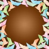 Vektorn av origami inramar, satte textblankoutrymme Royaltyfria Bilder