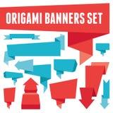 Fastställda Origami baner Arkivfoto
