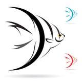 Vektorn avbildar av en ängelfisk stock illustrationer