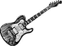 Elektrisk gitarr Fotografering för Bildbyråer