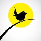 Vektorn avbildar av en fågel Royaltyfri Bild