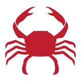 Vektorn avbildar av en krabba vektor illustrationer