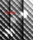 Vektorn belägger med metall mosaikbakgrund Royaltyfri Fotografi