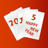 Vektorn cards 2015 Arkivbilder