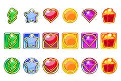 Vektorn färgade modiga app-symboler ställde in för Ui vektor illustrationer