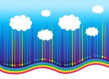vektorn för dräkter för bakgrundsillustratinregnbågen wallpaper den seamless gott Royaltyfria Bilder