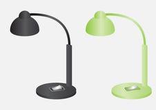 Vektorn för svart för läs- lampor och för grön färg planlägger stock illustrationer