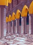 Vektorn fördärvar av byggnad royaltyfri illustrationer