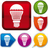 Vektorn förde lampsymbolen Fotografering för Bildbyråer