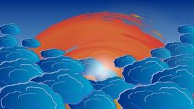 Vektorn fördunklar i strålarna av vitt ljus 10 eps Royaltyfri Illustrationer