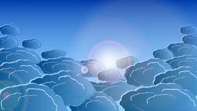 Vektorn fördunklar i strålarna av vitt ljus 10 eps Stock Illustrationer