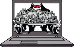 Vektorn - gör pengar online- Fotografering för Bildbyråer