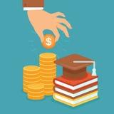 Vektorn investerar i utbildningsbegrepp Arkivbilder