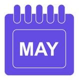 Vektorn kan på månatlig kalendersymbol vektor illustrationer