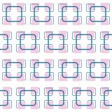 Vektorn kvadrerar den abstrakta sneda retro modellen för sömlös modellbakgrund, tappningstil stock illustrationer