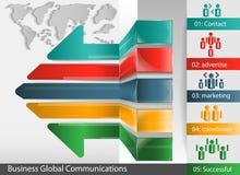 Vektorn låter till världsgruppframgång av affärsmannen Arkivbild