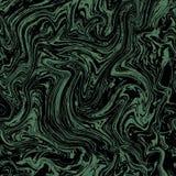 Vektorn marmorerar den sömlösa modellen Grön modell för marmor på mörk bakgrund royaltyfri illustrationer