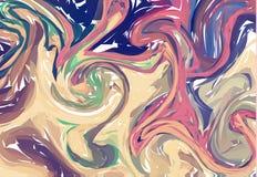 Vektorn marmorerar textur i pastell Färgpulver som marmorerar pappers- bakgrund Elegant lyxig bakgrund Vätskemålarfärg virvlade r royaltyfri illustrationer