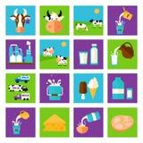 Vektorn mjölkar symbolen Royaltyfria Bilder