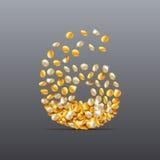 Vektorn nummer 6 gjorde av fyllnads- tecken för mynt Lätt att redigera Royaltyfri Bild