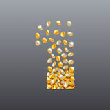 Vektorn nummer 1 gjorde av fyllnads- tecken för mynt Lätt att redigera Royaltyfria Bilder
