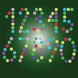 Vektorn numrerar ljusa cirklar Arkivfoto