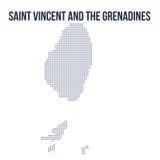 Vektorn prack översikten av Saint Vincent och Grenadinerna isolerade på vit bakgrund royaltyfri illustrationer