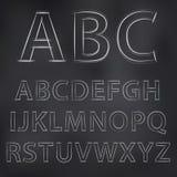 Vektorn skissade alfabet Royaltyfria Bilder