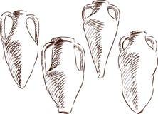 Amphoras för wine Arkivfoton
