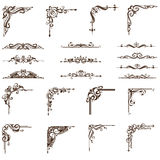 Vektorn smyckar hörnuppsättningen stock illustrationer
