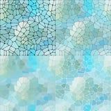 Vektorn ställde in av kiselstenar blå abstrakt bakgrund Vektorgrafik stock illustrationer