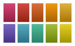 Vektorn ställde in av paletten för färg för lutningbakgrundsnaturen vektor illustrationer