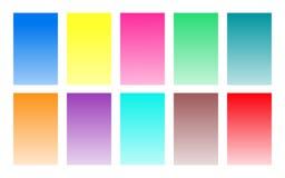 Vektorn ställde in av paletten för färg för lutningbakgrundsvattenfärgen royaltyfri illustrationer