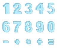 Vektorn ställde in av tecknad filmisdiagram och matematiskt tecken vektor illustrationer