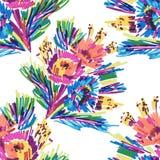 Vektorn stiliserade blommor målade markören royaltyfri illustrationer