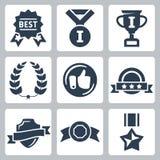 Vektorn tilldelar symbolsuppsättningen Fotografering för Bildbyråer