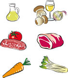 Vektornahrungsmittelset Lizenzfreie Stockfotos