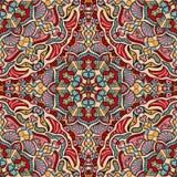 Vektornahtlose Beschaffenheit Schönes farbiges Muster für Design und Mode mit dekorativen Elementen lizenzfreie abbildung