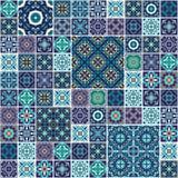 Vektornahtlose Beschaffenheit Schönes Mega- Patchworkmuster für Design und Mode mit dekorativen Elementen Stockbild