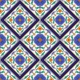 Vektornahtlose Beschaffenheit Schönes farbiges Muster für Design und Mode mit dekorativen Elementen Lizenzfreie Stockfotos