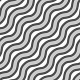 Vektornahtlose Beschaffenheit Wiederholen des Musters der gewellten Linien in den verschiedenen Farben lizenzfreie abbildung