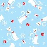 Vektornahtlose Hintergrundkarte für Weihnachten und Stockfoto