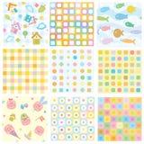 Vektornahtlose Muster für Ihre Auslegung. Stockbilder
