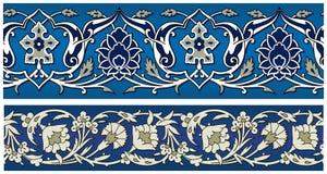 Vektornahtloser abstrakter Blumenrand Stockfoto