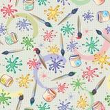 Vektornahtloser Hintergrund des Malerpinsels und der Flecken Stockfoto